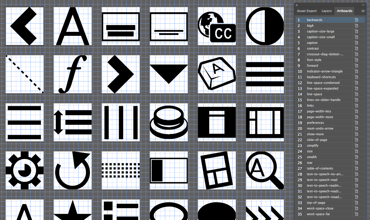 Standard workflow in maintaining and creating icon fonts - Fluid